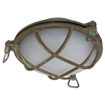Exterior wall ceiling light Old brass cast patinated