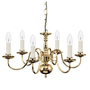 Lampe de style couronne lumière pendentif en laiton