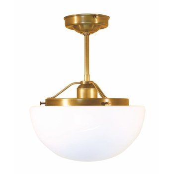 lampe de lumière au plafond en laiton antique
