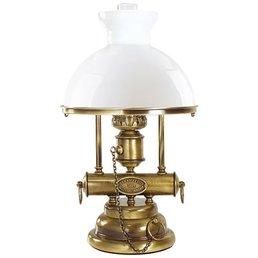 Lampe de table de style de pétrole laiton antique brossé