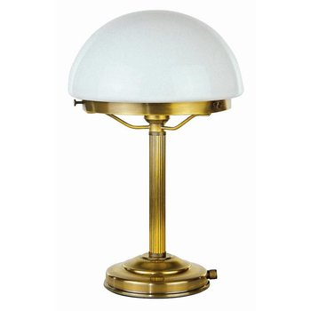 Lampe de table en laiton antique