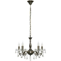 Chandelier antique rustic altmessing