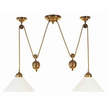 Pendellampe mit Gewicht Lampe antik messing höhenverstellbar