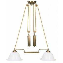 Lampe antik messing Leuchte mit Gegengewicht