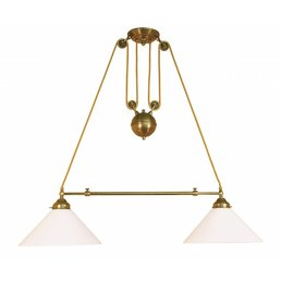 Light antique brass with counterweight