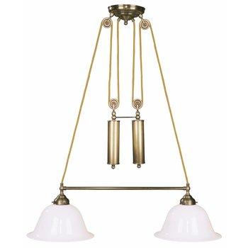 Lampe antik messing Leuchte höhenverstellbar