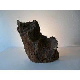 Ronce Lampe de table en bois de chêne hauteur 50 cm