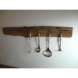Küchenleiste aus uraltem Fachwerkbalken ~ 118 cm
