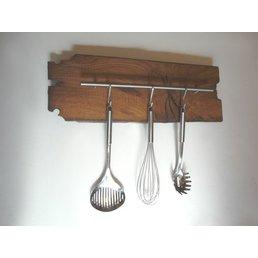 Küchenleiste aus altem Fachwerkbalken ~ 60 cm