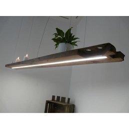 rustic XXL LED lamp hanging lamp wooden antique bar ~ 184 cm