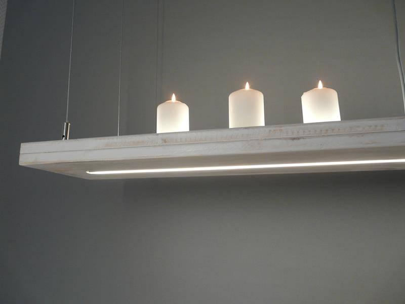 Shabby Shic Leuchte Holz - Luxina Licht