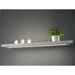 including light Shabby Chic with upper and lower light. Duo Remote Control ~ 120 cm