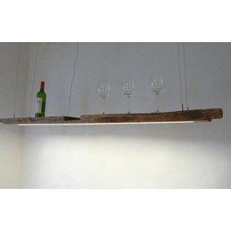 XL LED Lampe Hängeleuchte antik Balken ~ 172 cm