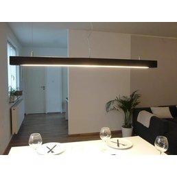 Lampe suspension couleur noyer bois ~ 120 cm