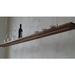 XXL hanging lamp wood acacia ~ 200 cm