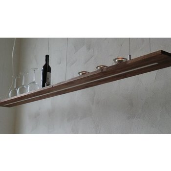 XXL Hängelampe Holz Akazie ~ 200 cm
