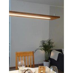lampe suspendue chêne bois clair huilé ~ 120 cm