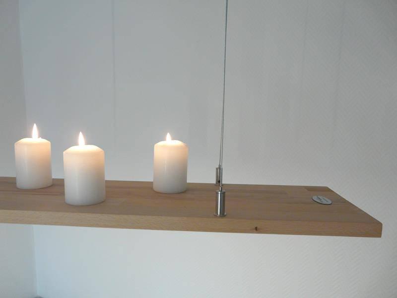 Hangelampe Holz Buche 80 Cm