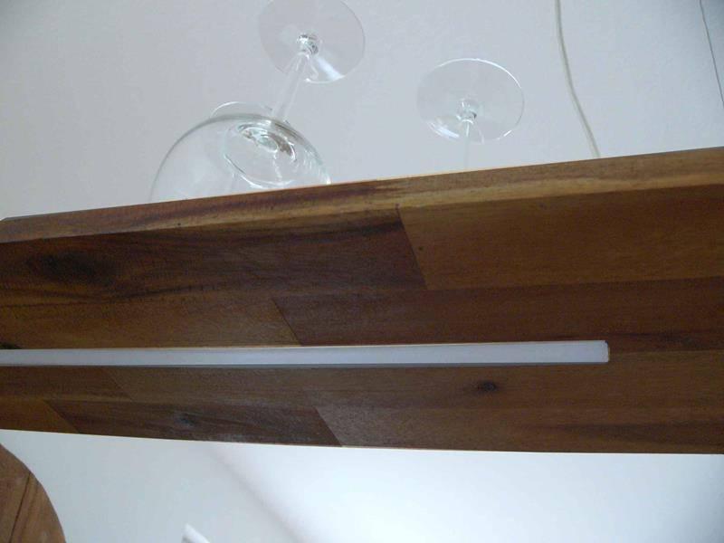 holz h ngelampe akazie luxina licht. Black Bedroom Furniture Sets. Home Design Ideas