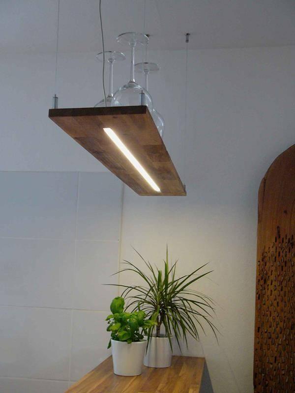 Holz h ngelampe akazie luxina licht - Wohnzimmer licht aus ...