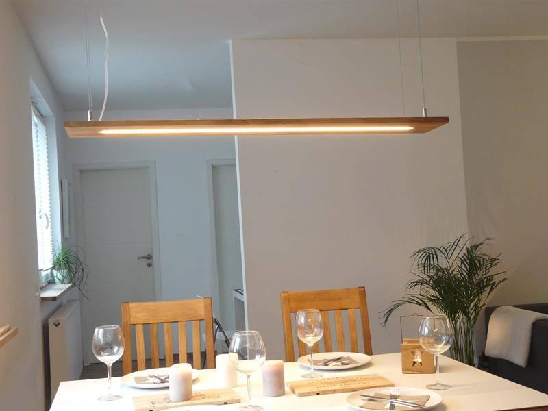 esstischlampe aus holz in eiche luxina licht luxina licht. Black Bedroom Furniture Sets. Home Design Ideas