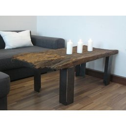 Couch table made of antique oak wood