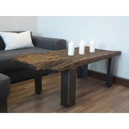 Table basse planche de chêne antique