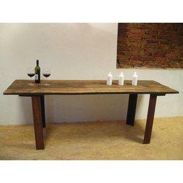 table à manger XXL planches de chêne antique