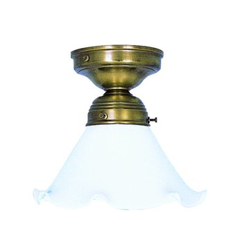 kleine Deckenlampe messing antik