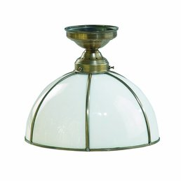 lampe laiton antique de plafond en laiton antique