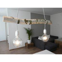 lampe suspendue bois de bouleau de lumière 2 FLG. ~ 78 cm - Copy