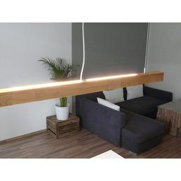 Hanging lamp wood oiled oak 120 cm with dimmer