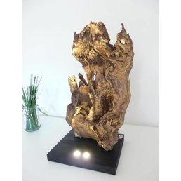 XL Wurzelholz Skulptur aus Eichenholz ~ 70 cm
