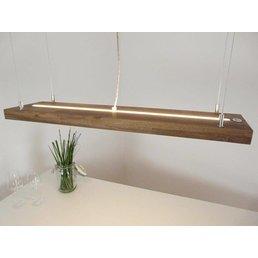 Hängelampe Holz Akazie mit Ober und Unterlicht ~ 80 cm