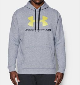 Under Armour Herren Fleece Hoodie UA Rival, enganliegend, mit Aufdruck