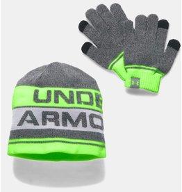 Under Armour Kids' UA Beanie & Glove Combo Set 2.0