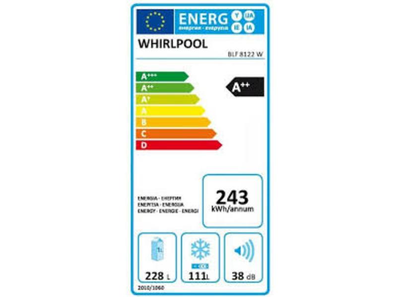 Whirlpool BLF 8122 W koel/vrieskast