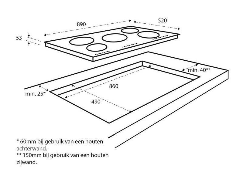 Inventum IKI9021 inductie-kookplaat 90cm