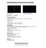 Kupperbusch KMI8500.0SR inductie-kookplaat met afzuiging