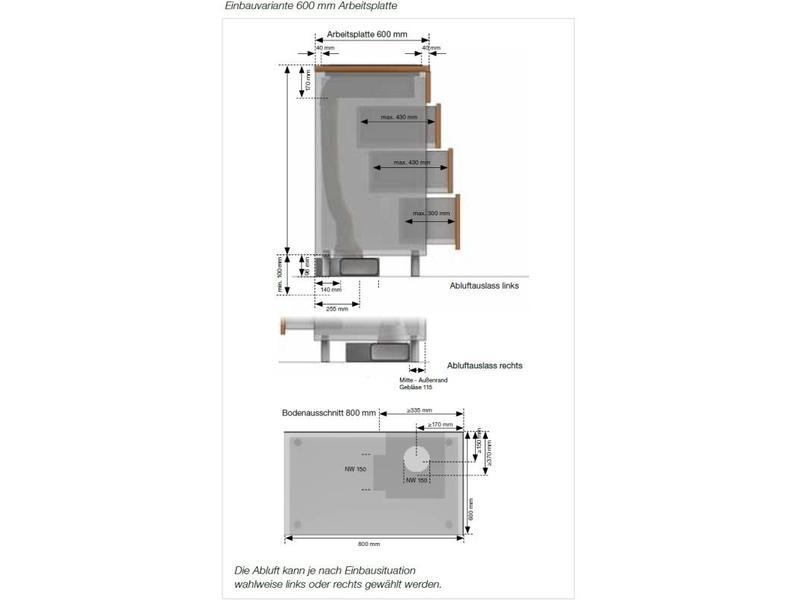 Küppersbusch KMI8500.0SR inductie kookplaat met afzuiging