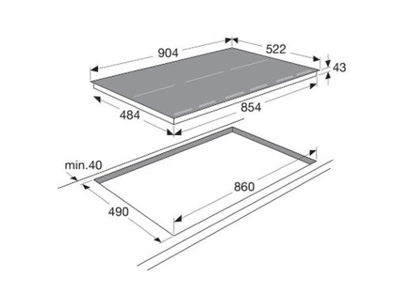 Atag HI9271MV inductie-kookplaat 90cm