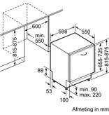 Bosch SMV68MX00N inbouw-vaatwasser 60cm