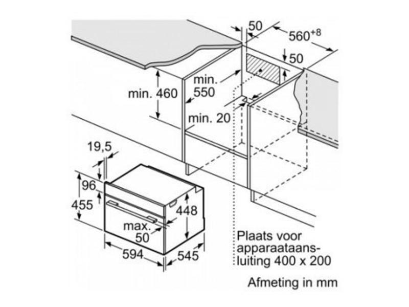 Bosch CPA565GS0 combi-magnetron nis 45cm