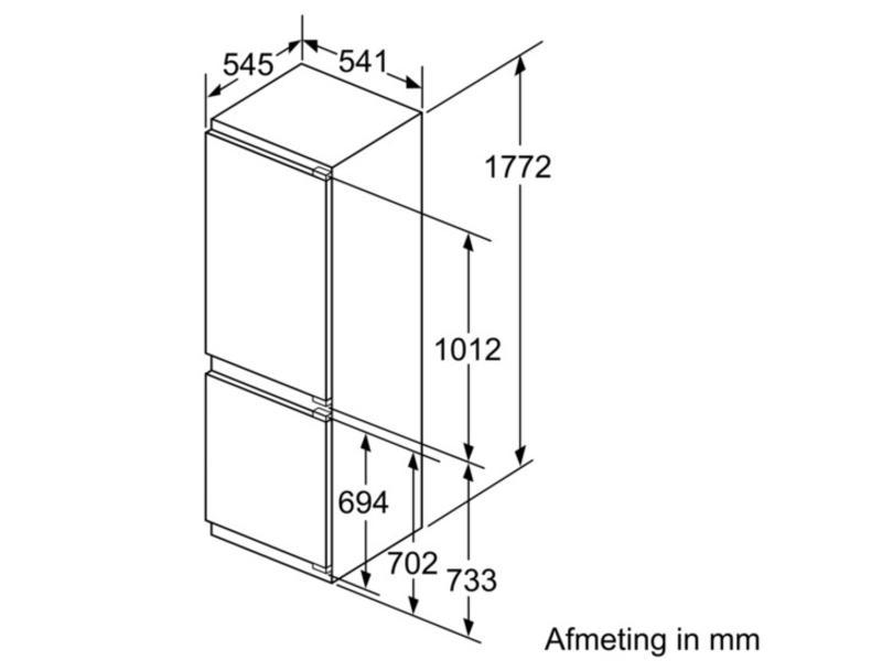 Siemens KI86NVF30 koel/vries-combinatie 178 cm