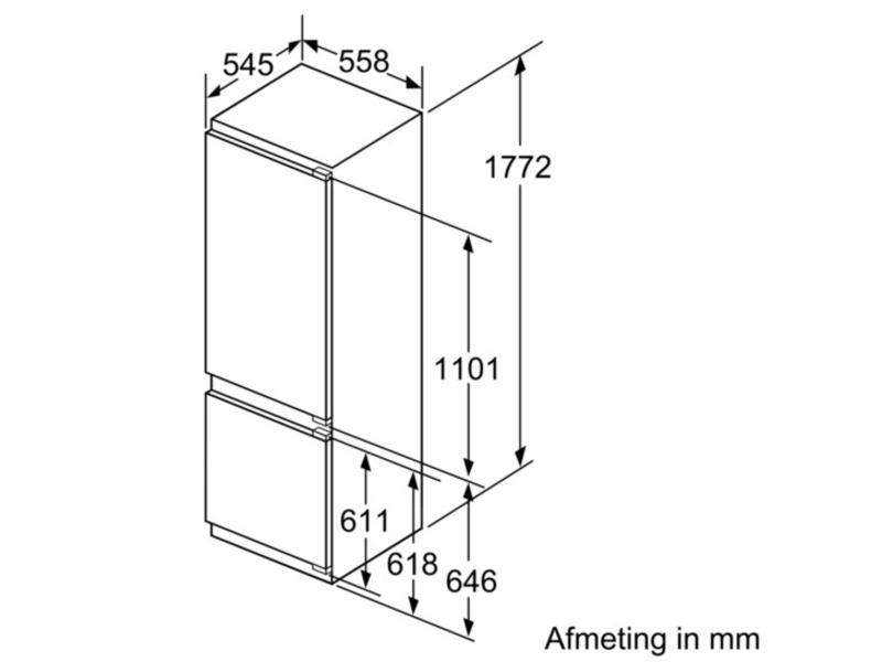 Siemens KI87SAD30 inbouw-koel/vriescombinatie