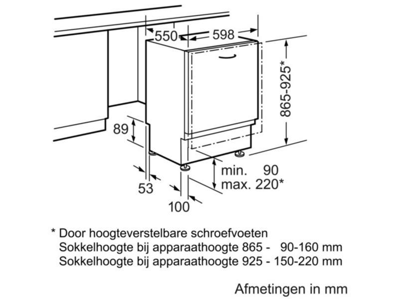 Siemens SX658X04TE inbouw-vaatwasser