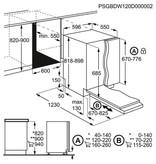 AEG FSS6370XP inbouw-vaatwasser 60cm