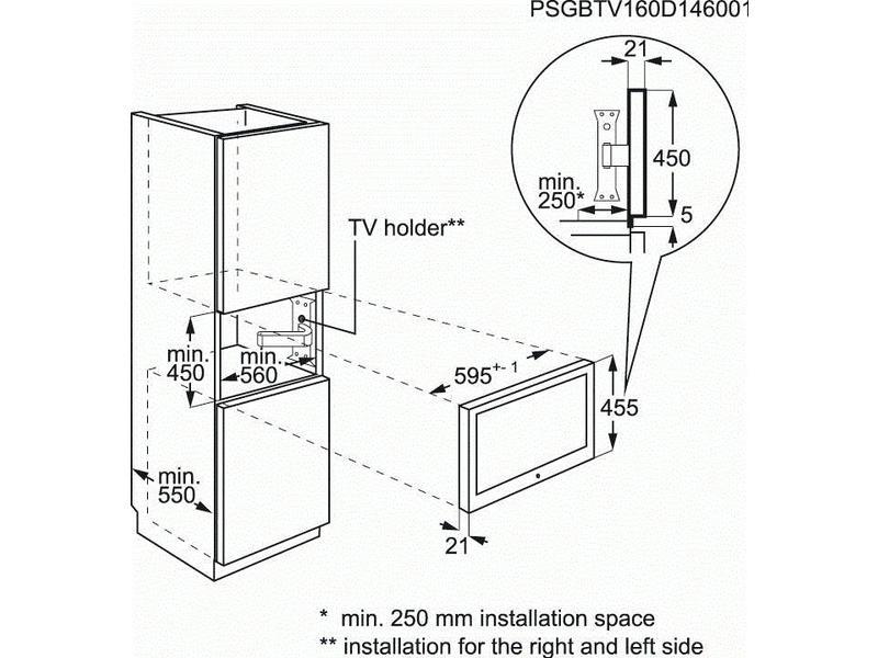 AEG KTK884520M inbouw televisie