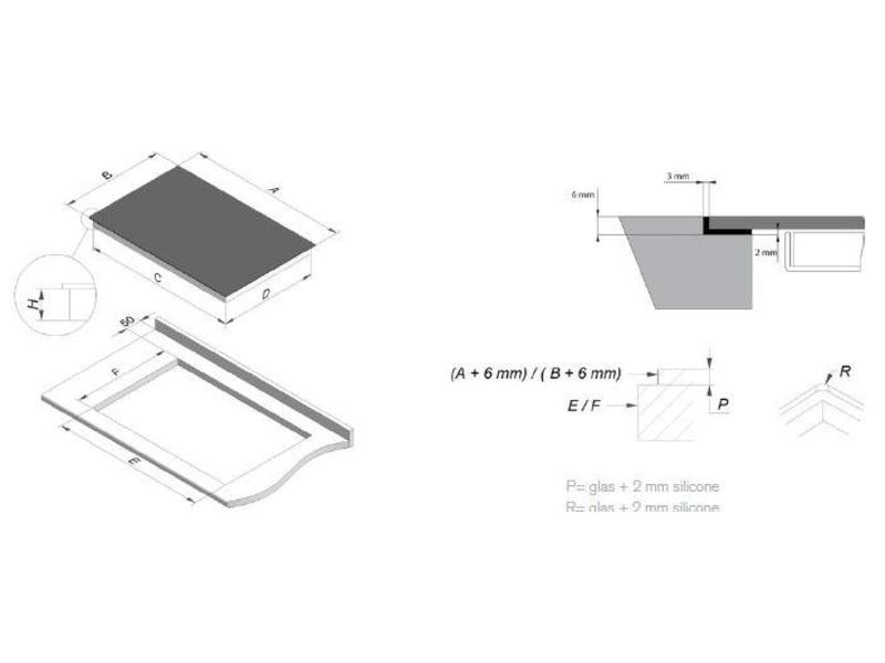 Novy 1758 inductie-kookplaat 88cm
