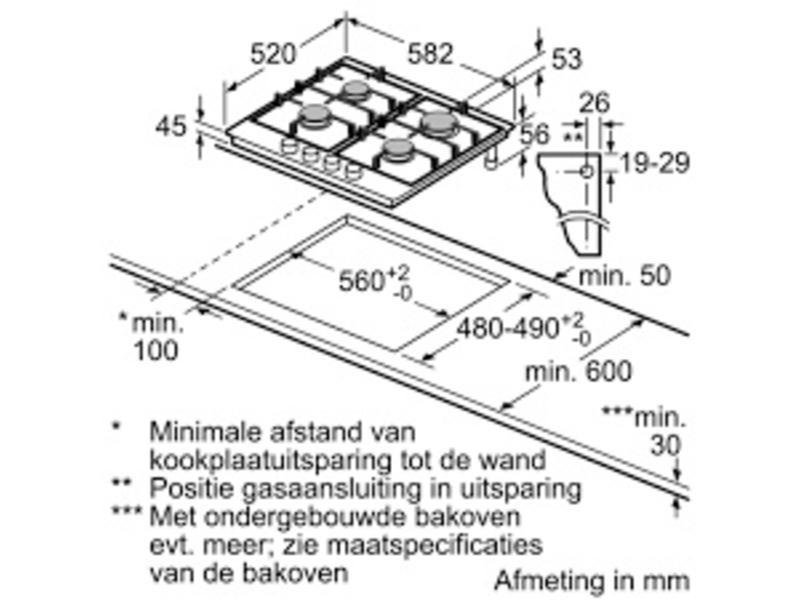 Siemens EC6A5PL90N gaskookplaat (stepflame)
